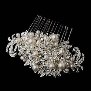 Fabulous Crystal Pearl Bridal Comb Elegant Bridal Hair
