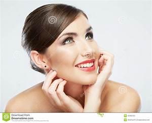 Woman Face Close Up Beauty Portrait. Female Model Stock ...