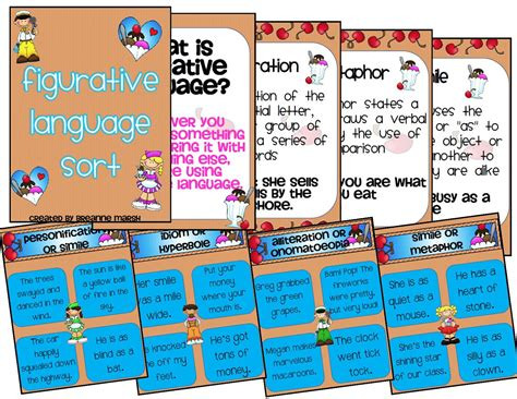 ms  grade figurative language activity packet