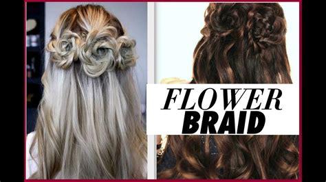 flower braid hair tutorial   prom hairstyles