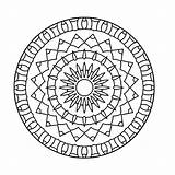 Kaleidoscope Coloring Mandala Pages Printable Books Q4 Coloringpages sketch template