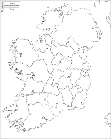 ireland  map  blank map  outline map