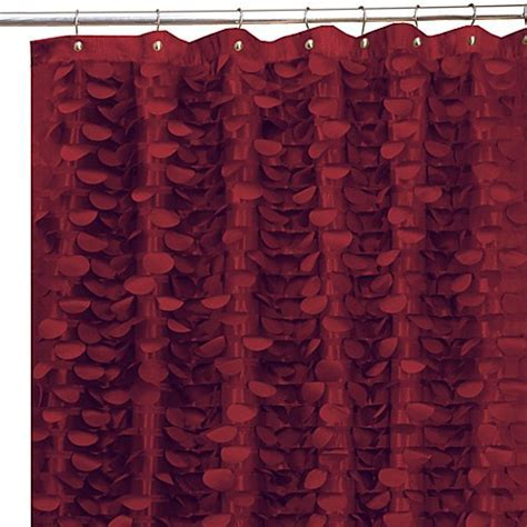 Gigi Burgundy 72 Inch x 72 Inch Fabric Shower Curtain