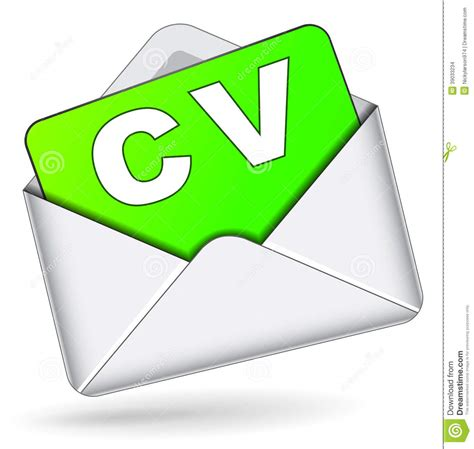 vector cv by mail icon stock illustration image 39033234