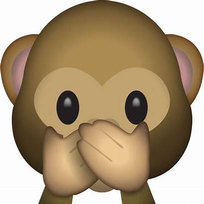 Monkey Emoji Clipart Evil Speak Library Royalty