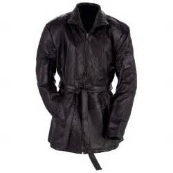 Giovanni Navarre Ladies Leather Jacket with Belt Tie - Size M