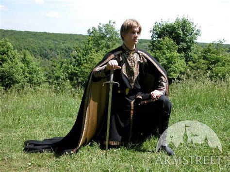 great   wool medieval black cloak