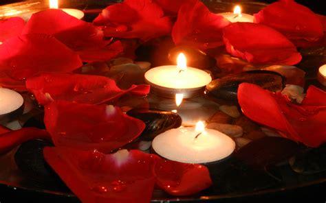 rose petals candles wallpaperscom