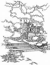 Coloring Landscape Adults Landscapes Colouring Secret Adult Blank June Spring Landscaping Attractive 11th Popular sketch template