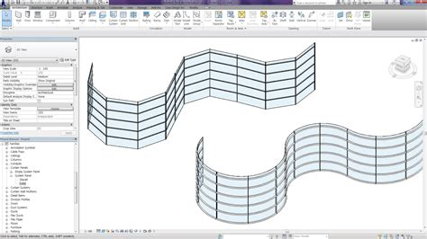 revit tips curved curtain wall