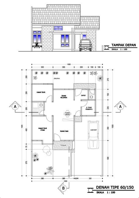 contoh denah rumah kontrakan minimalis homkonsep