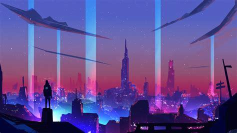 1080p Neon City Wallpaper by 1920x1080 Wallpaper Neon Artwork Cityscape