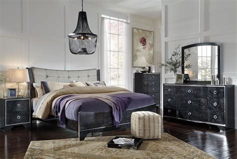 amrothi black panel bedroom set  ashley coleman