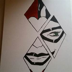 Harley Quinn canvas painting | Drawing by Me | Pinterest ...