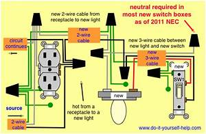 Wiring Diagram To Take Hot From A Receptacle For A Light