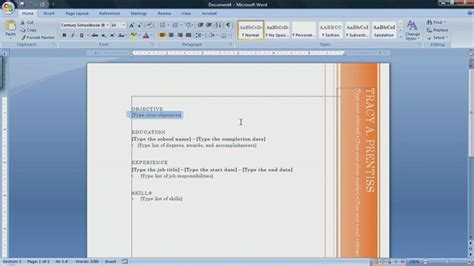 To Create Resume In Microsoft Word 2007 by Microsoft Word Baycon Html Autos Weblog