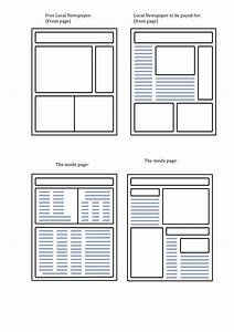 word newspaper template virtrencom With blank newspaper template for word