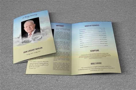 Funeral Brochure Template Word 20 Funeral Brochure Template Word Indesign And Psd