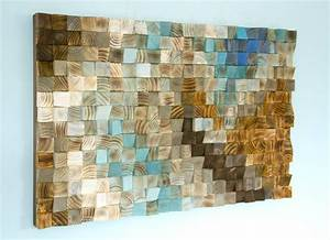wood wall art mosaic office wall decor geometric art 24 With mosaic wall art