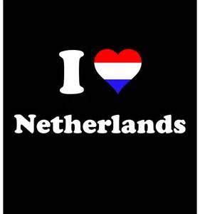 T-shirt I love Netherlands - Impression Quimper