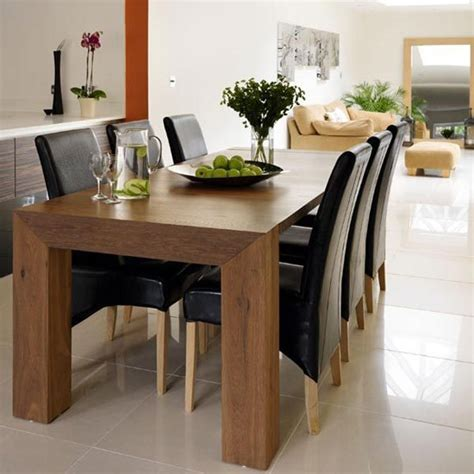 modern wood dining room tables  piece