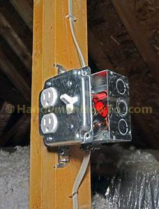 How To Wire An Attic Electrical Outlet And Light