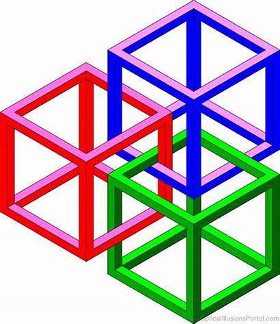 Illusion Optical Geometric Geometry Impossible Cubes Brilliant