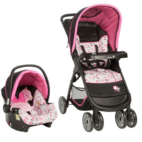 disney baby minnie mouse amble quad travel system