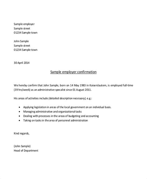sample proof  employment letter