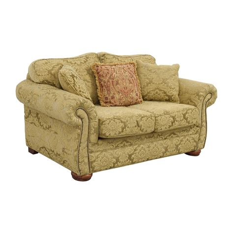 Upholstered Loveseat by 84 Gold Upholstered Loveseat With Toss Pillows Sofas