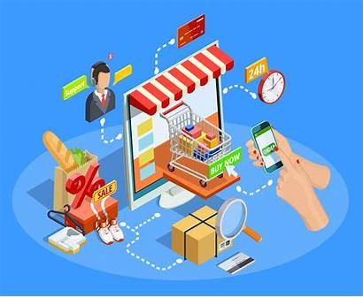 Commerce Shopping Poster Vector Concept Graphics Clipart