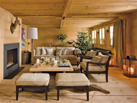 chalet style stylish year decorations in chalet style