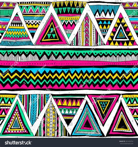 aztec colors neon color tribal navajo vector seamless stock vector