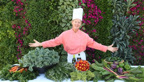 Edible Vertical Garden by Chef With Bountiful Harvest Of Edibles Grown On A