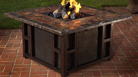 gas pit table dining table gas firepit dining table