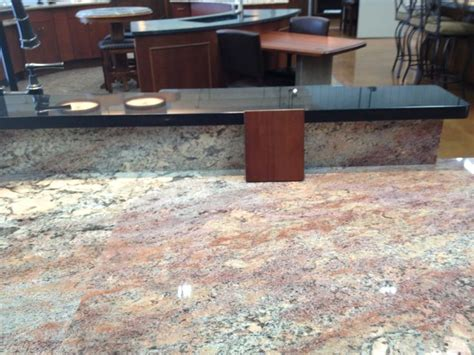 crema bordeaux granite with a sle of our cabinet color