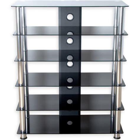 balance professionnelle cuisine meuble hifi design en verre noir 113 cm