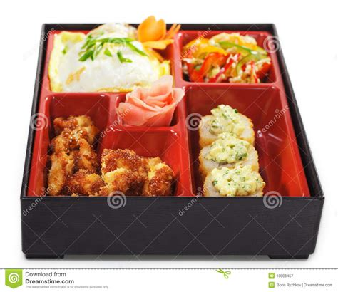 bento japanese cuisine japanese cuisine bento lunch royalty free stock