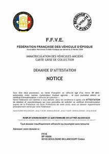 Fédération Française Des Véhicules D époque Ffve : notice pour remplir la demande d attestation ffve by le rocher issuu ~ Medecine-chirurgie-esthetiques.com Avis de Voitures