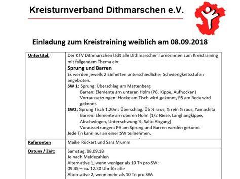 einladung zum kreistraining weiblich am 08 09 2018 ktv