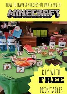 Free printable minecraft food signs