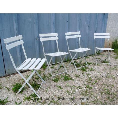 chaises pliantes bois 4 chaises de jardin pour enfant bois et métal pliantes