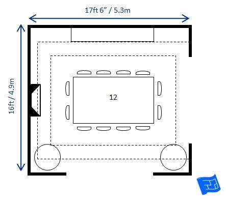 dining room size work   dimensions