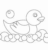 Coloring Rubber Ducky Bubbles Making sketch template