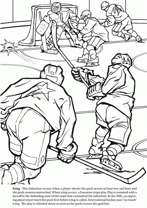 ice hockey coloring pages coloring home