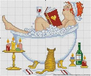 44 best images about cross stitch schemi bagno punto croce for Bathroom cross stitch patterns free