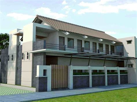 foto desain rumah kost minimalis sederhana gambar desain