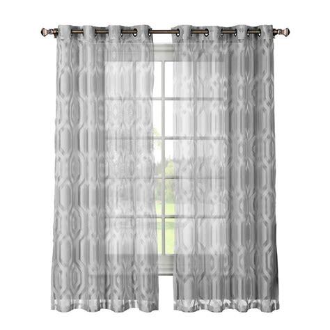 window elements delta cotton blend burnout sheer