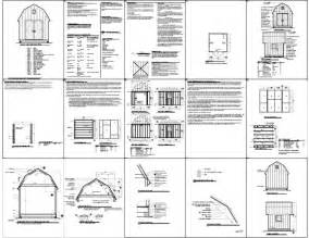 12x12 gambrel shed plans free