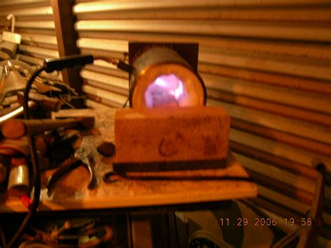 We use our coffee can forge we built to heat treat a few blades. coffee can forge - Gas Forges - I Forge Iron